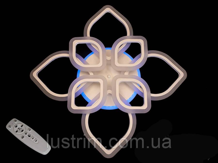 Потолочная LED-люстра с диммером и подсветкой, 115W