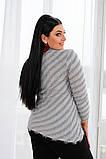 Женский мягкий ,пушистый женский джемпер 42-56р.(5 расцв), фото 2