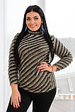 Женский мягкий ,пушистый женский джемпер 42-56р.(5 расцв), фото 7