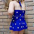 Купальник детский слитный синий в белый горошек -161-01, фото 3