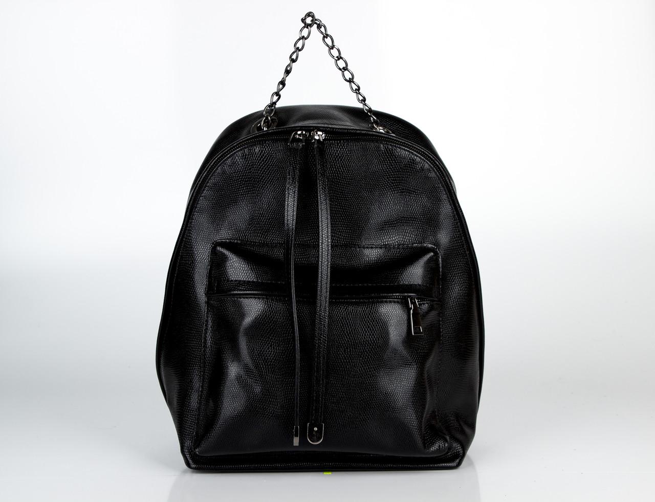 Шкіряна сумка ASSA 1155 чорна