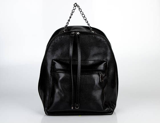 Шкіряна сумка ASSA 1155 чорна, фото 2