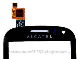 Тачскрин (сенсор) Alcatel 4033, One Touch Pop C3 4033D Dual Sim, black (чёрный), фото 2