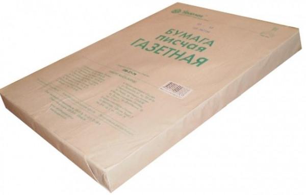 Бумага газетная А4 (45г/м2) 500 л.