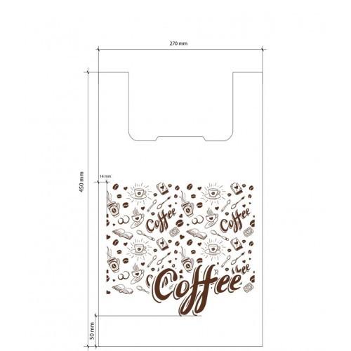 Полиэтиленовый пакет доллар Кофе картинка