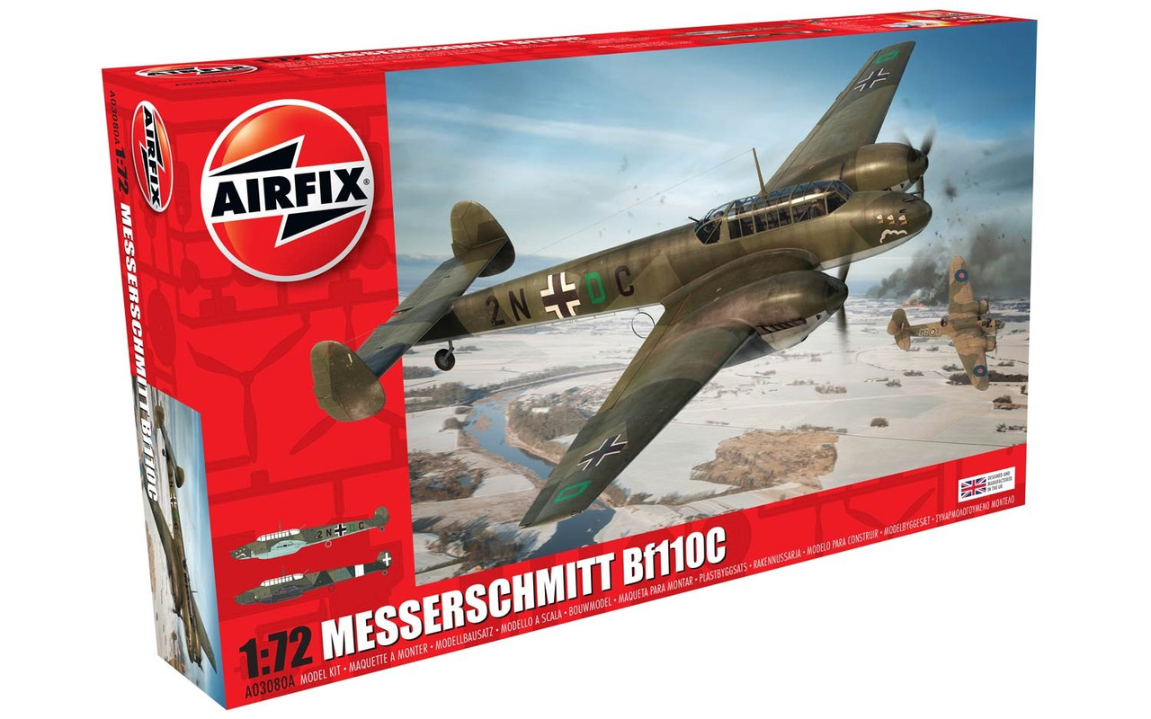Messerschmitt Bf.110 C немецкий тяжелый истребитель. 1/72 AIRFIX 03080
