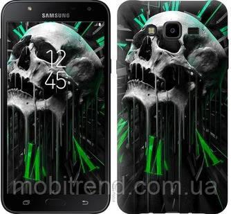 Чехол на Samsung Galaxy J7 Neo J701F Череп-часы