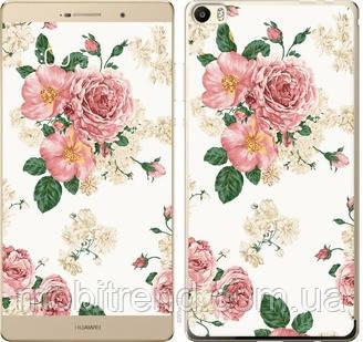 Чехол на Huawei P8 Max цветочные обои v1
