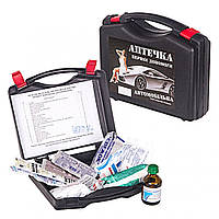 Аптечка 24 предм./черный футляр/охлаждающий контейнер NEW