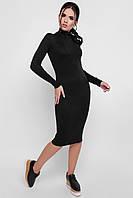 Черное платье-гольф миди, фото 1
