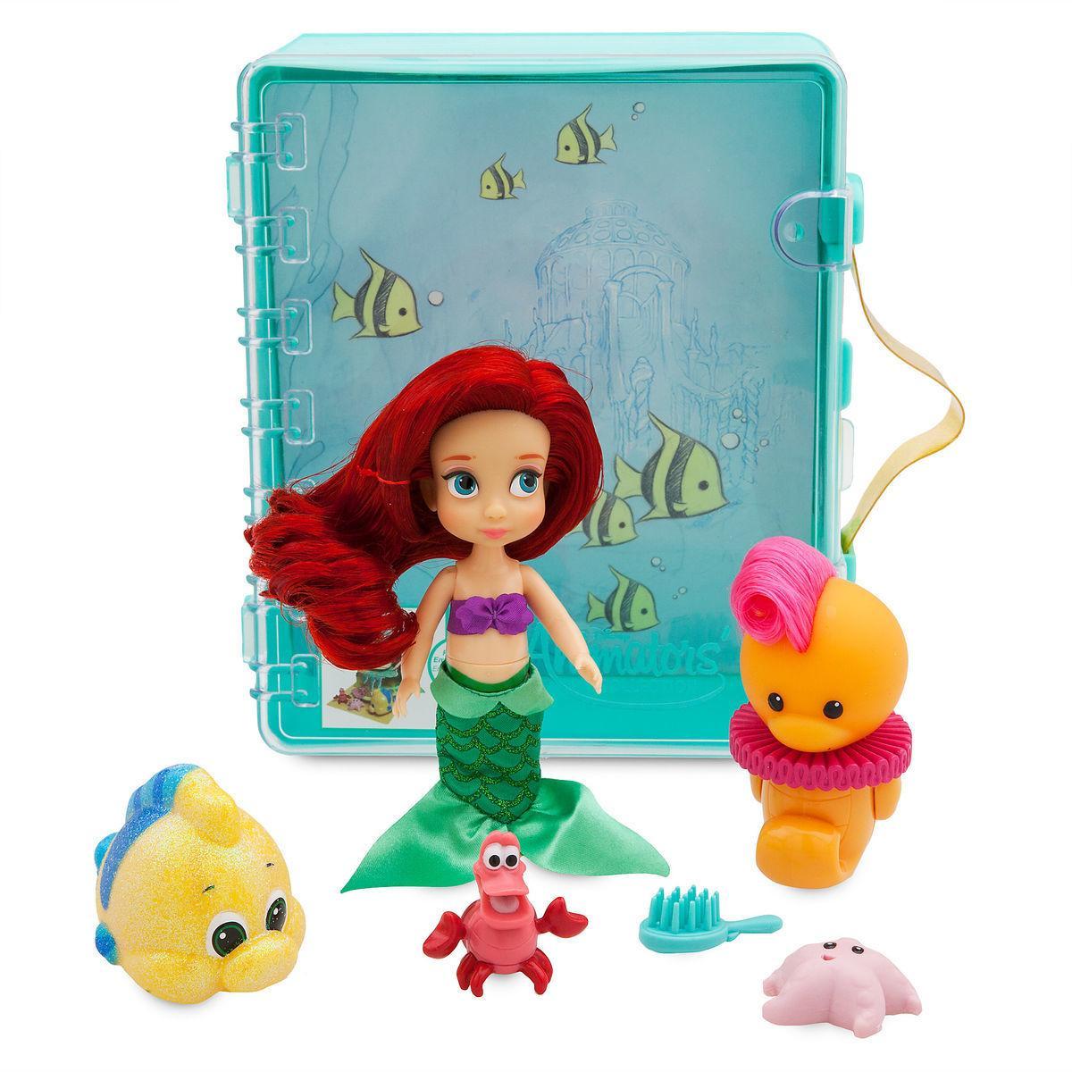 Набор Disney Animators мини кукла принцесса Ариэль - Русалочка