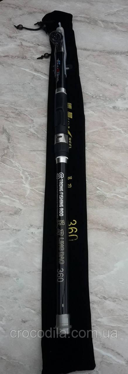 Телескопическое удилище Tokushima 3.6 м 80-120 грамм.
