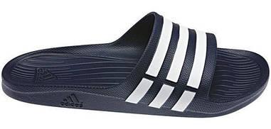 Тапочки Adidas Duramo Slide темно-синий оригинал
