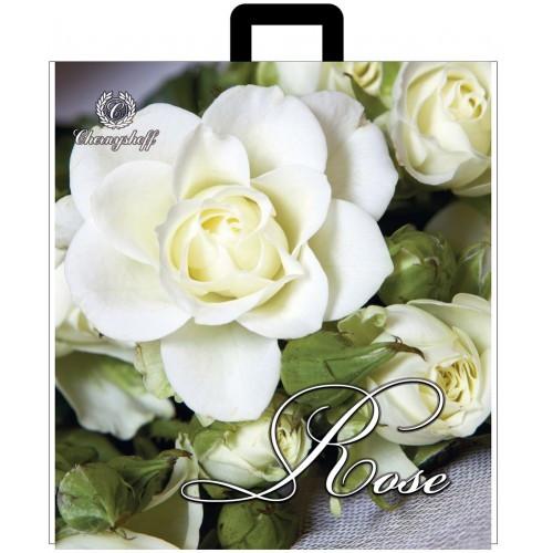 Пакет полиэтиленовый петлевой Роза белая фото