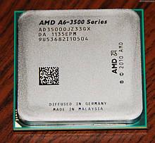Процессор AMD sFM1 на 3 ЯДРА ATHLON A6-3500 ( 3 по 2,1 - 2,4 GHZ каждое) AD35000JZ33GX FM1 с ГАРАНТИЕЙ