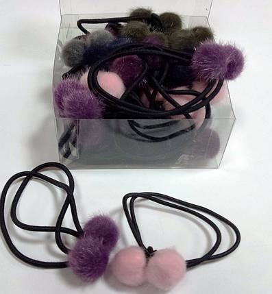"""Резинка для волос """"Меховые шарики"""", фото 2"""