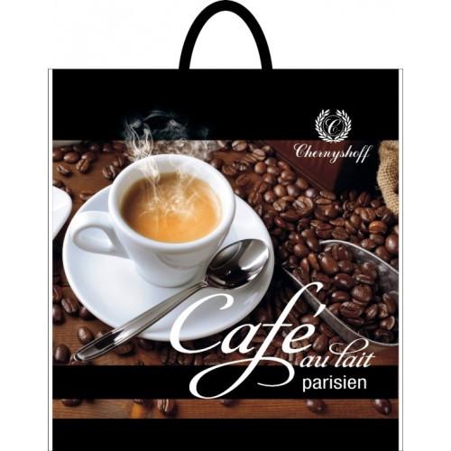 Пакет полиэтиленовый петля Чашка кофе 38*34 фото