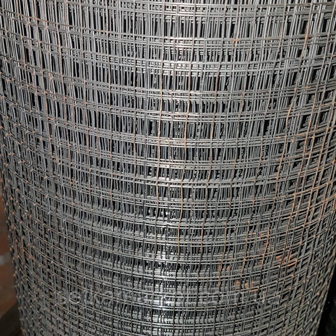 Сітка зварна , чорна (штукатурна) , 12х25мм., діаметр 0,7 мм