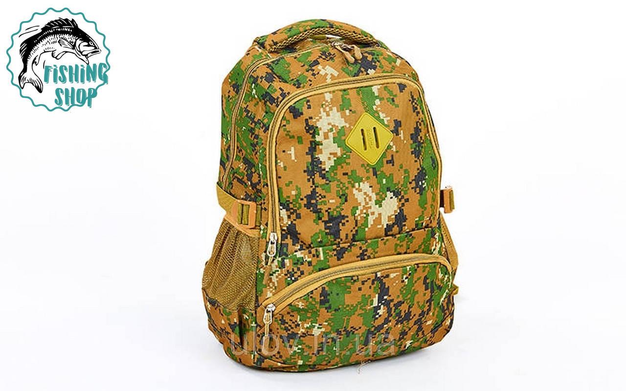 Рюкзак туристичний (зелений піксель) 25л/ 47*32*15см