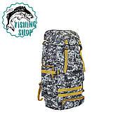 Рюкзак туристичний (блакитний піксель) 65л/ 58*34*16.5 см, фото 1