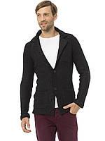 Черный мужской пиджак LC Waikiki / ЛС Вайкики с латками и карманами, фото 1