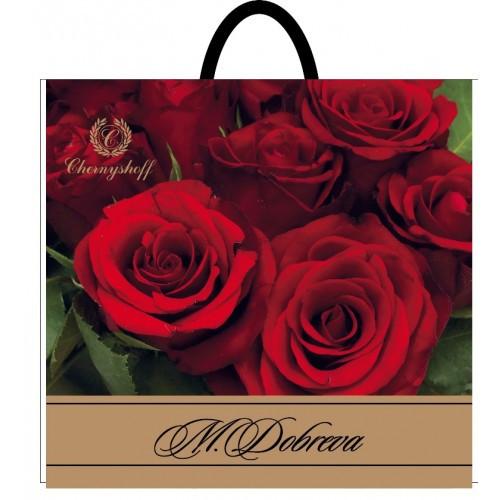 Пакет полиэтиленовый петля Добрева роза 38*34 фото