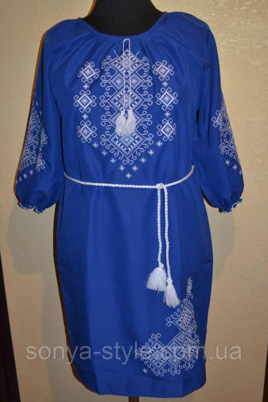 """Женское платье""""с орнаментом """" до 54 размера"""