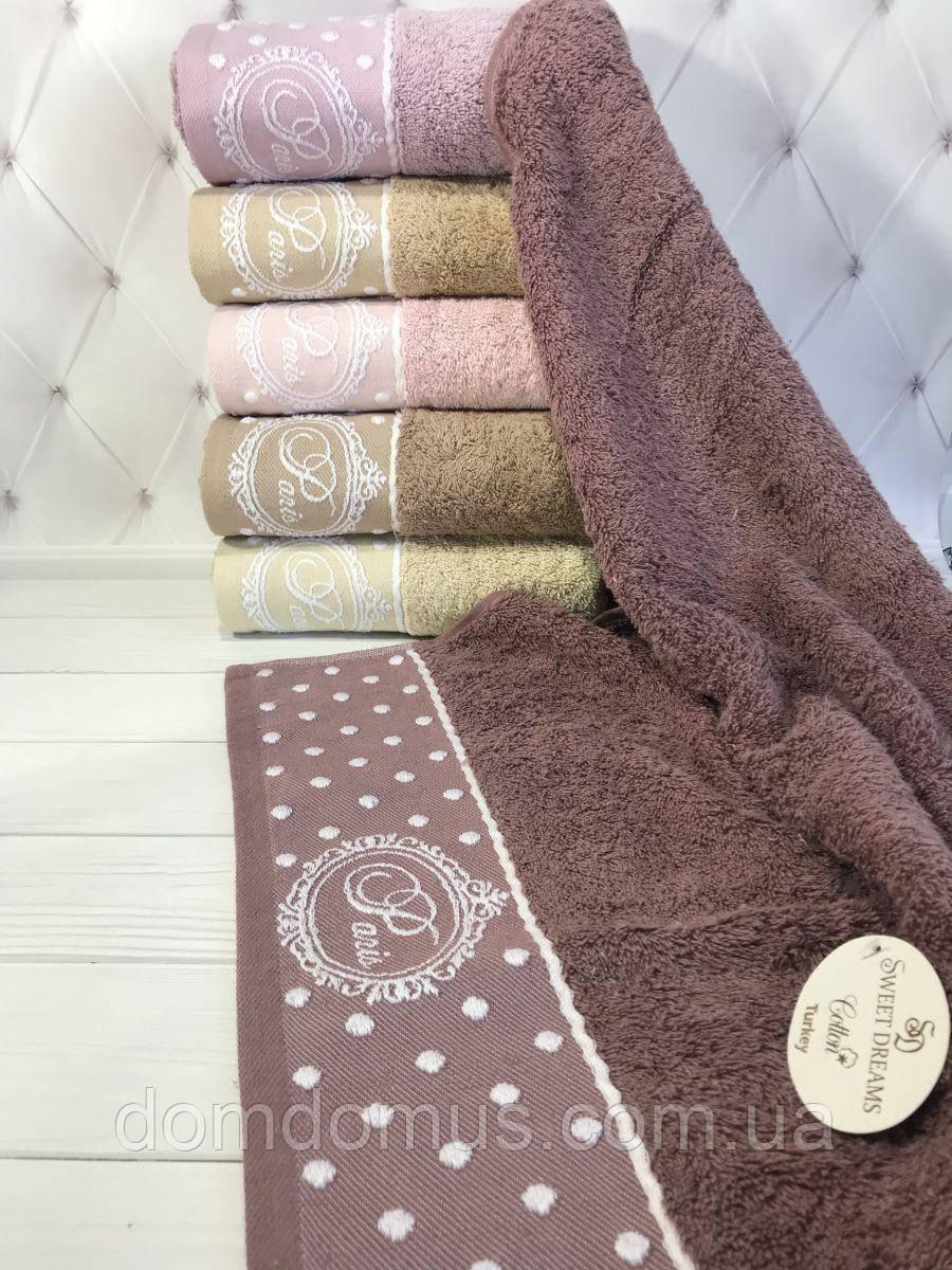 "Махровое полотенце ""Paris"" 50*90 см SWEET  DREAVS, 6 шт./уп.,Турция"