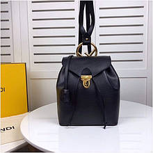Рюкзак Фенді натуральна шкіра, колір чорний