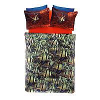 Двуспальное евро постельное белье TAC Cobalt Сатин-Digital