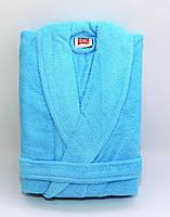 Махровый халат TAC Soft turquoise L