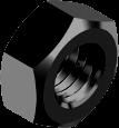 Гайки шестигранные метрические, сталь, кл. пр. 8, БП (DIN 934)