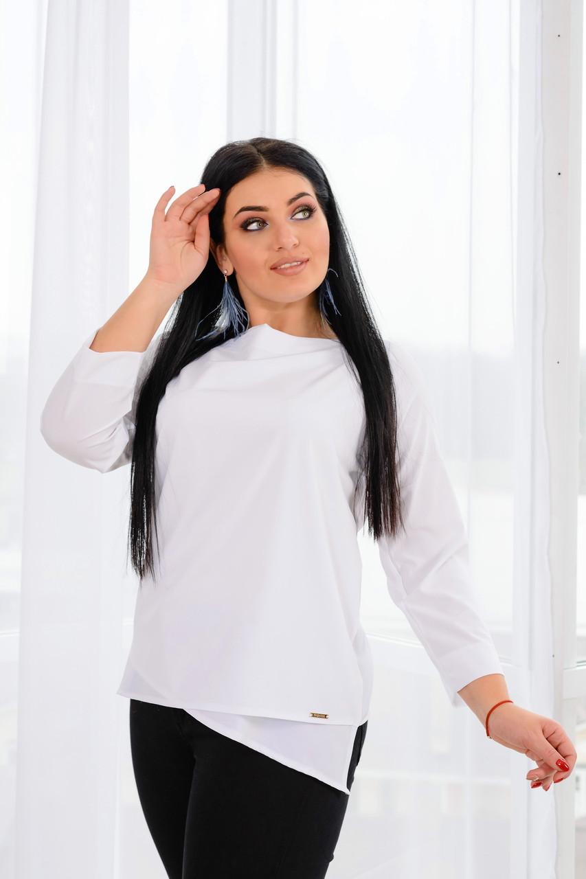 Молодежная блуза асимметричного покроя