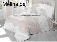 Двуспальное евро постельное белье Altinbasak Melina kahve Ранфорс