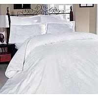 Двуспальное евро постельное белье Altinbasak Scarlet white Сатин