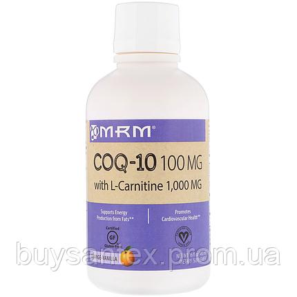 MRM, COQ-10 with L-Carnitine, Orange-Vanilla, 100 mg / 1,000 mg, 16 fl oz (480 ml), фото 2