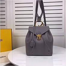 Рюкзак Фенди натуральная кожа, цвет серый