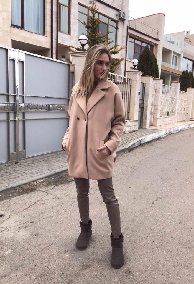 Пальто кашемир свободного кроя