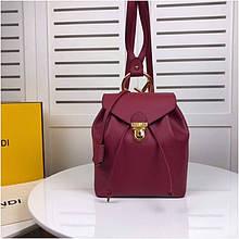 Рюкзак Фенди натуральная кожа, цвет бордовый