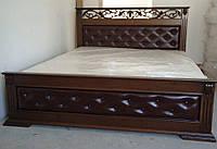 Деревянная кровать Лорен с тканью