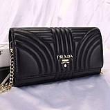 Сумка, клатч от Прада натуральная кожа, цвет черный, фото 3