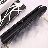 Сумка, клатч от Прада натуральная кожа, цвет черный, фото 7