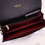 Сумка, клатч от Прада натуральная кожа, цвет черный, фото 4