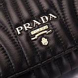 Сумка, клатч от Прада натуральная кожа, цвет черный, фото 5