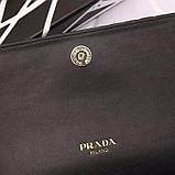 Сумка, клатч от Прада натуральная кожа, цвет черный, фото 9