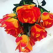 Роза искусственная.Высокий букет с крупными бутонами.