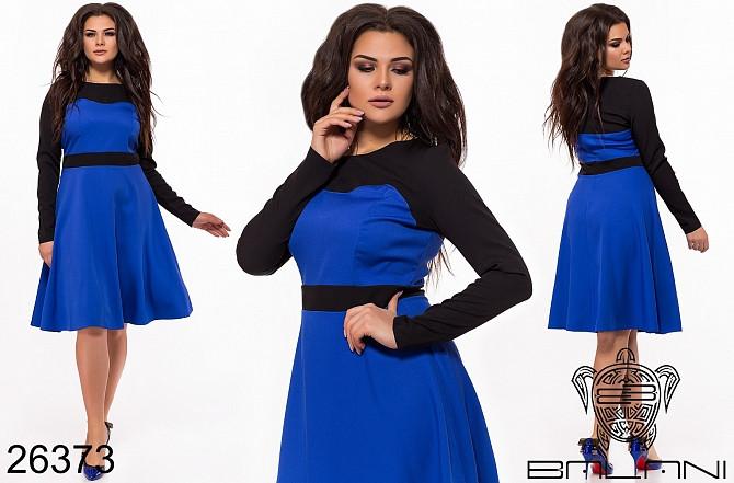 Синие платье батал