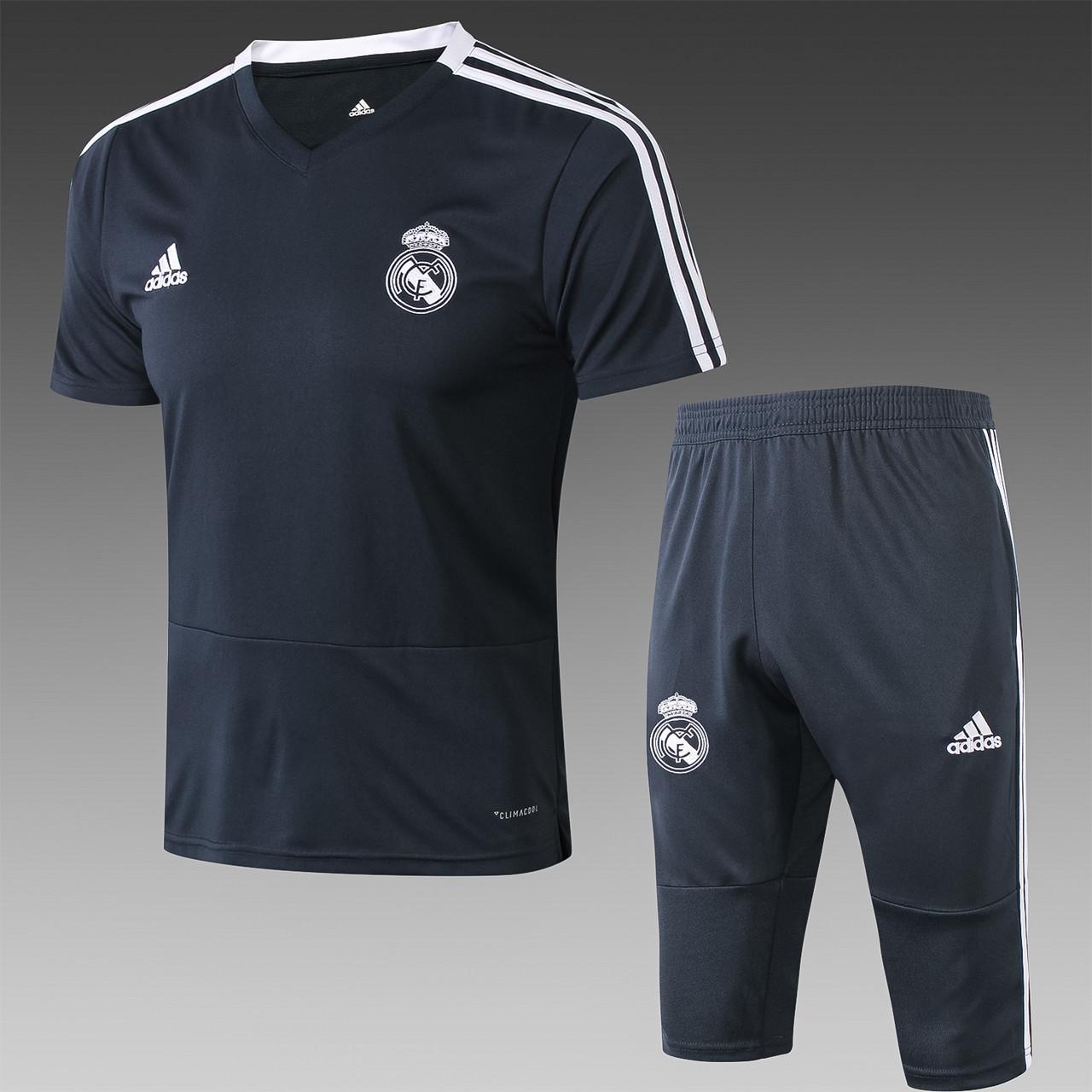 """Летний тренировочный костюм """"Реал Мадрид"""", 2019 (бриджи и футболка)"""