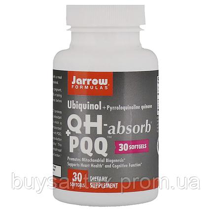 Jarrow Formulas, Убихинол, QH+ PQQ, 30 гелевых капсул, фото 2