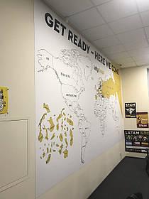 Карта мира для компании LetyShops